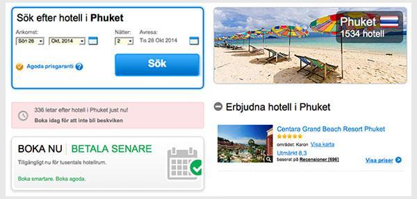 Boka hotell billigt i Thailand