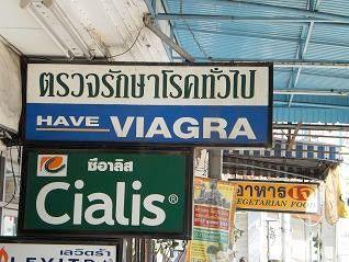 Viagra och Cialis säljs flitigt i Phuket och Thailand.
